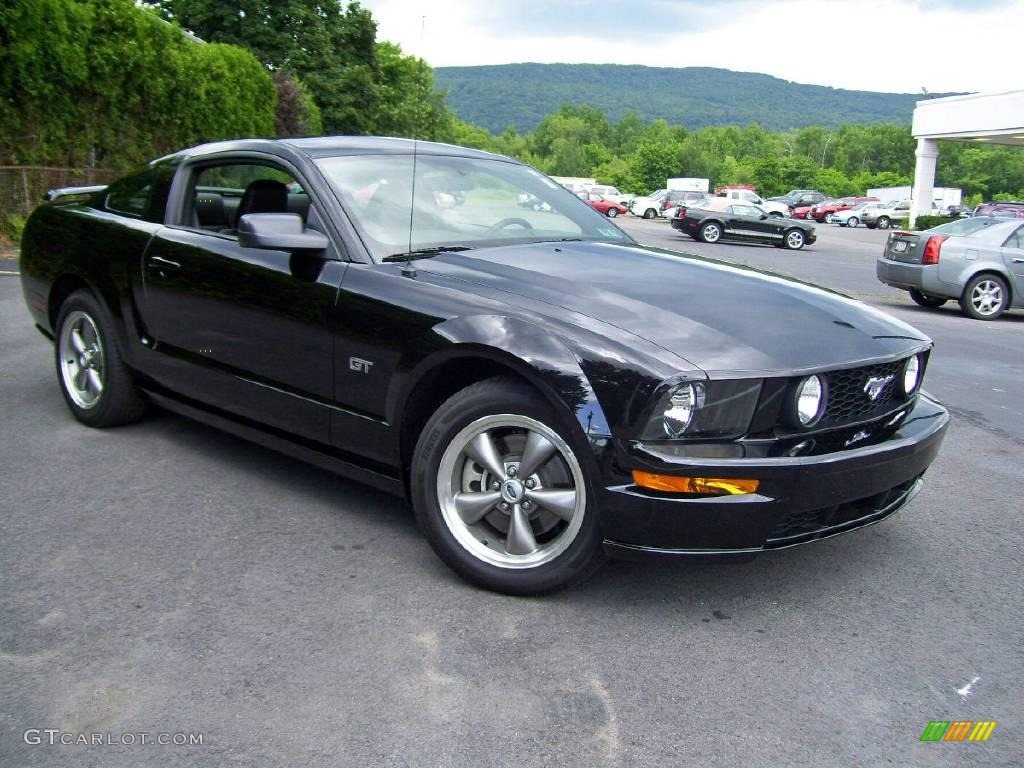 black 2006 ford mustang gt premium coupe exterior photo. Black Bedroom Furniture Sets. Home Design Ideas