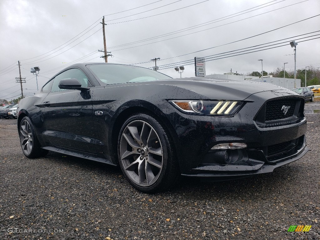 2015 Mustang GT Coupe - Black / Ebony photo #1