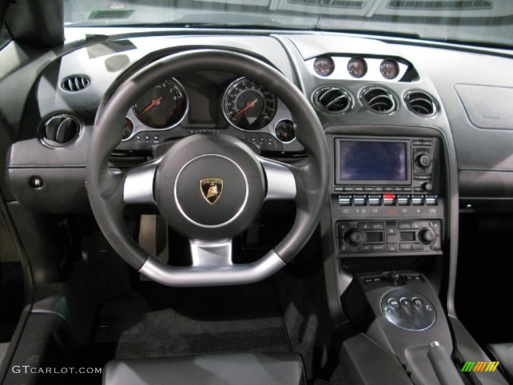 black interior 2007 lamborghini gallardo spyder photo 13640272 - Lamborghini Gallardo Spyder Black 2013