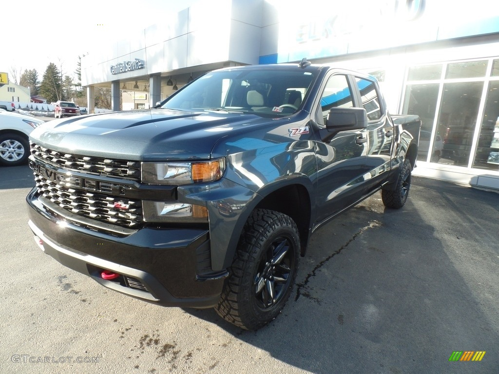 2020 Silverado 1500 Custom Trail Boss Crew Cab 4x4 - Shadow Gray Metallic / Jet Black photo #1