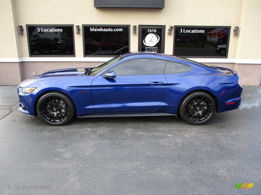 2016 Mustang GT Premium Coupe - Deep Impact Blue Metallic / Ebony photo #1