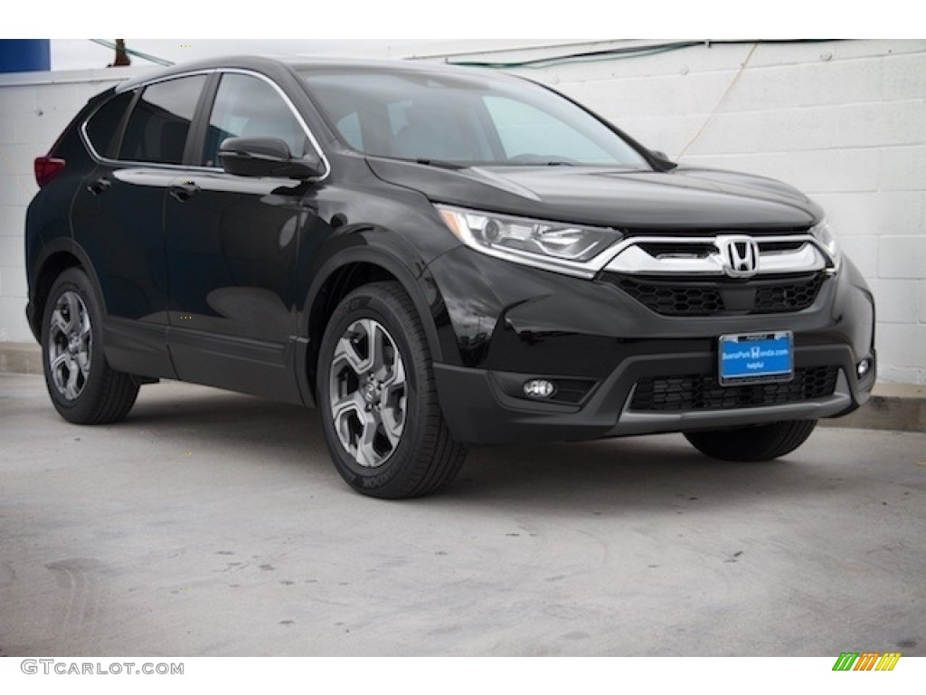 2020 CR-V EX-L - Crystal Black Pearl / Black photo #1