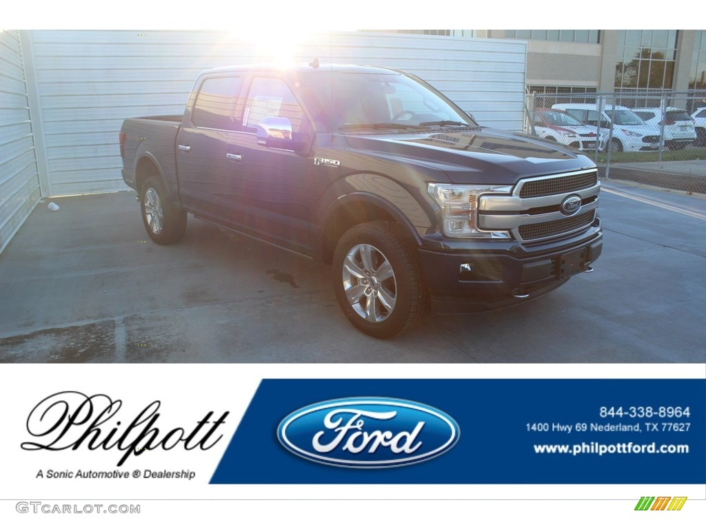 2020 F150 Platinum SuperCrew 4x4 - Blue Jeans / Black photo #1