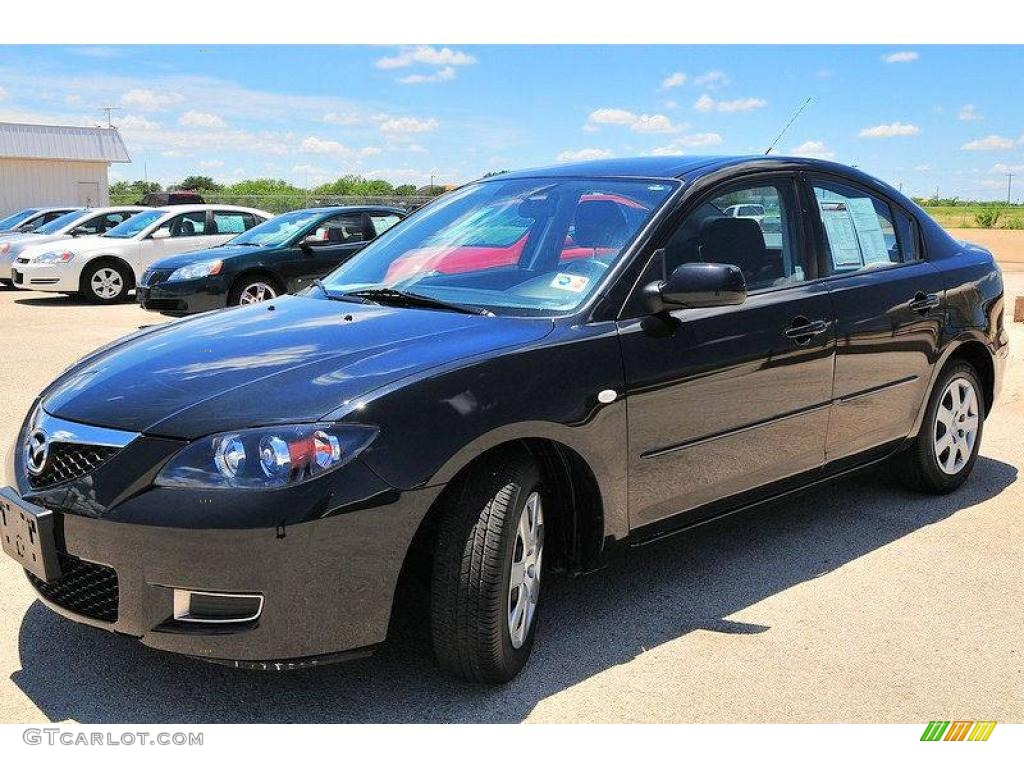 2009 black mica mazda mazda3 i sport sedan 13613293. Black Bedroom Furniture Sets. Home Design Ideas
