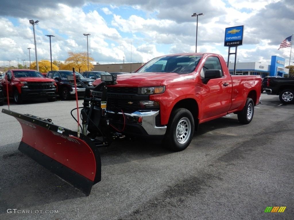 2020 Silverado 1500 WT Regular Cab 4x4 - Red Hot / Jet Black photo #1