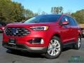 Rapid Red Metallic 2020 Ford Edge Titanium AWD