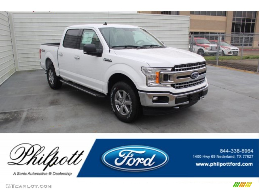 2020 F150 XLT SuperCrew 4x4 - Oxford White / Medium Earth Gray photo #1