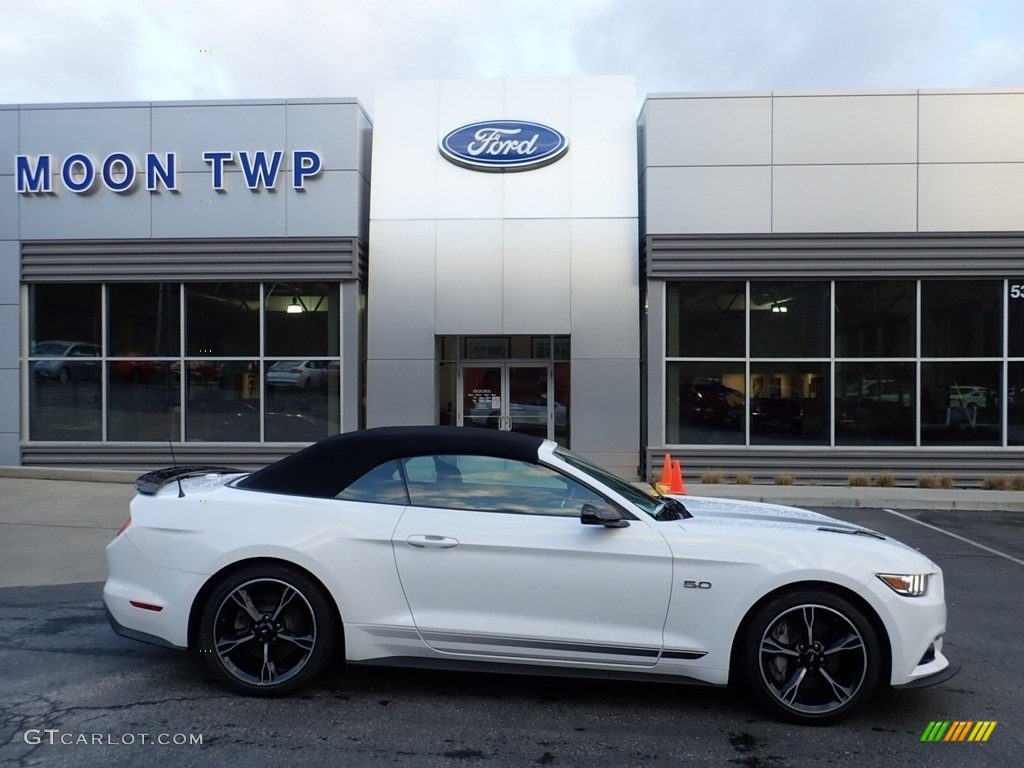 2017 Mustang GT California Speical Convertible - Oxford White / California Special Ebony Leather/Miko Suede photo #1
