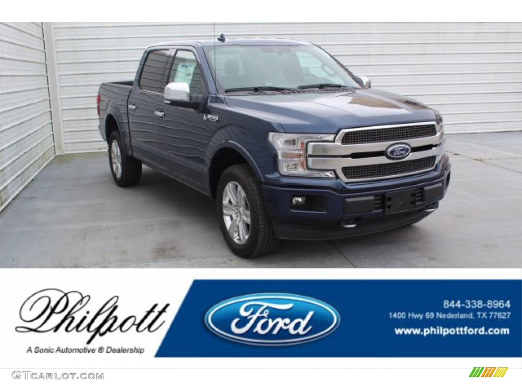 2020 F150 Limited SuperCrew 4x4 - Blue Jeans / Black photo #1