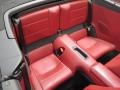 2018 Porsche 911 Black/Bordeaux Red Interior Rear Seat Photo