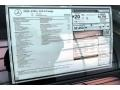 2020 C AMG 63 S Coupe Window Sticker