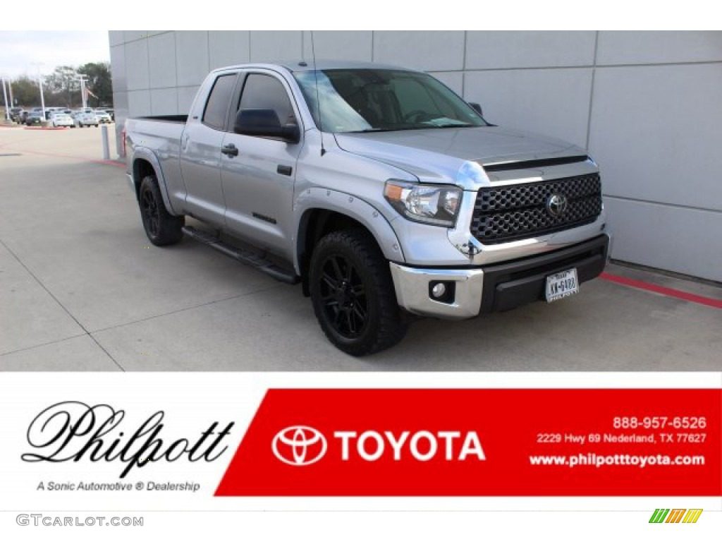 2019 Tundra TSS Off Road Double Cab 4x4 - Silver Sky Metallic / Black photo #1