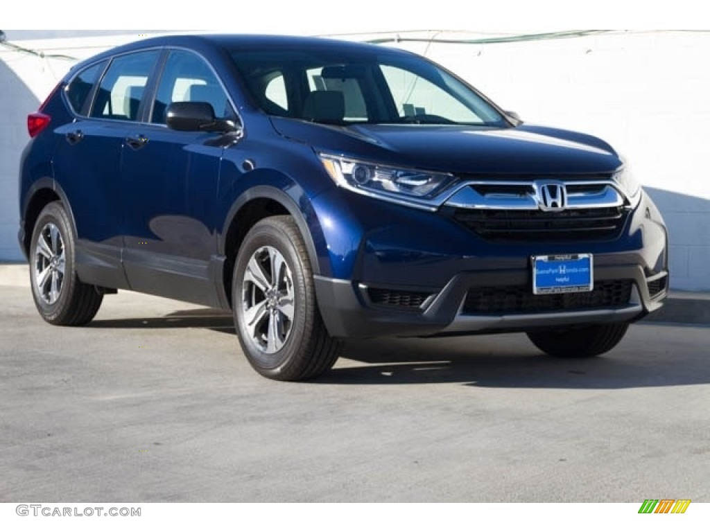 2020 CR-V LX - Obsidian Blue Pearl / Gray photo #1