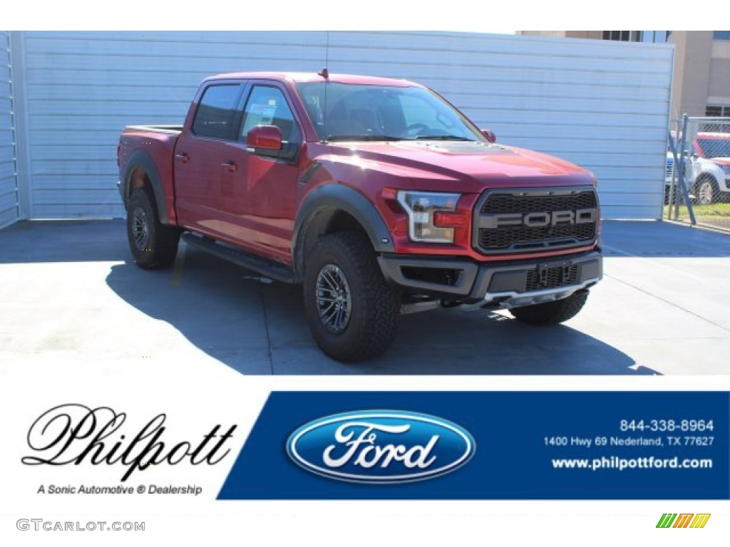 2020 F150 SVT Raptor SuperCrew 4x4 - Rapid Red / Black photo #1