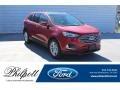 Rapid Red Metallic 2020 Ford Edge SEL
