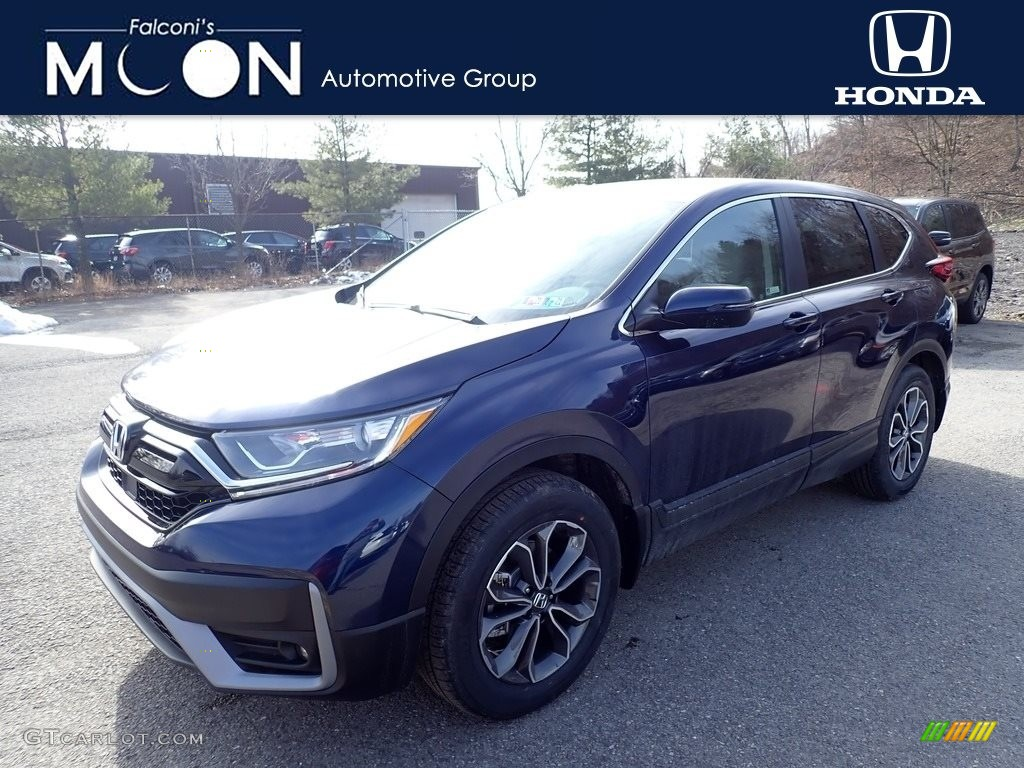 2020 CR-V EX AWD - Obsidian Blue Pearl / Gray photo #1