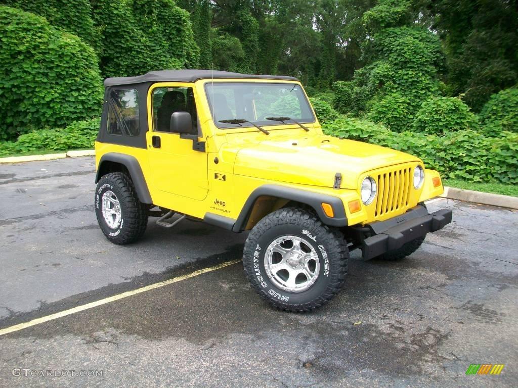 2006 solar yellow jeep wrangler x 4x4 13674894 car color galleries. Black Bedroom Furniture Sets. Home Design Ideas