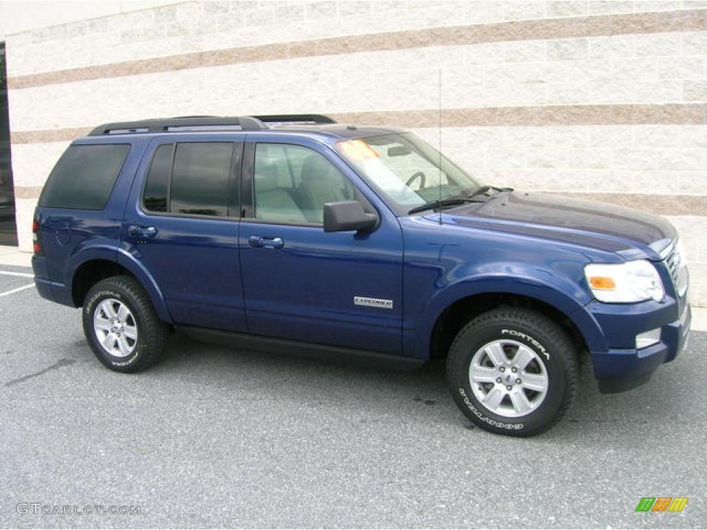 Dark blue pearl metallic ford explorer