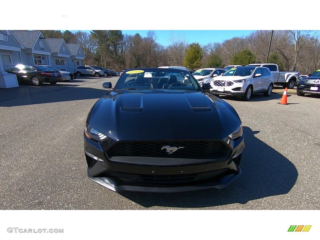 2018 Mustang EcoBoost Convertible - Shadow Black / Ebony photo #1