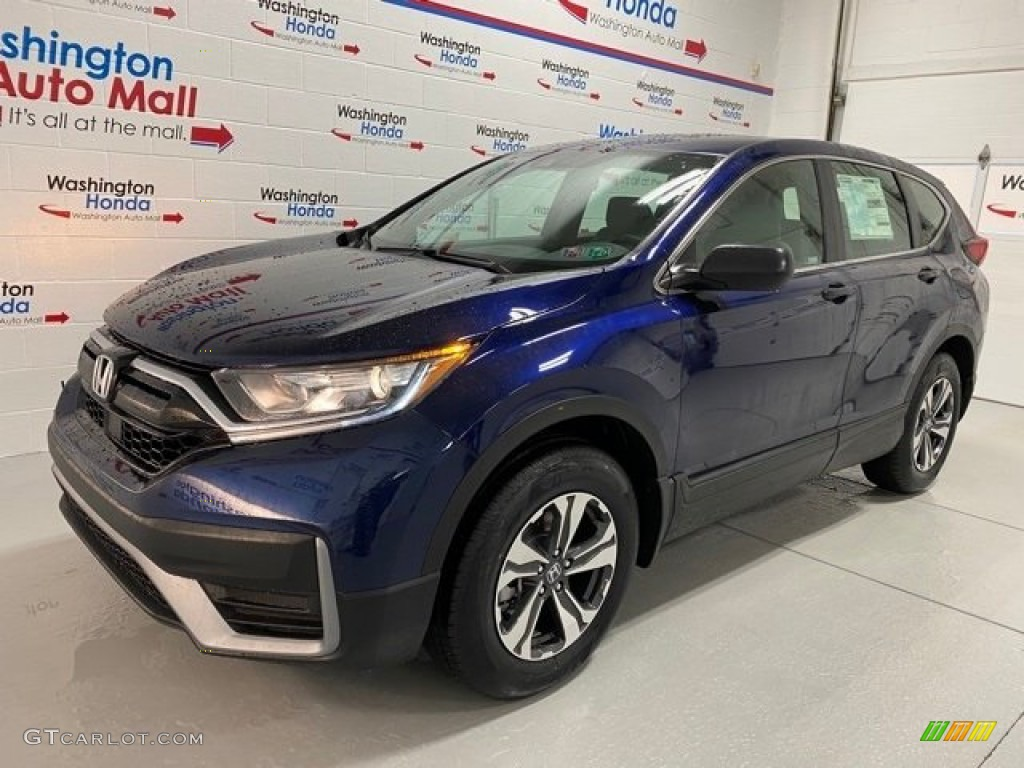 2020 CR-V LX AWD - Obsidian Blue Pearl / Gray photo #4
