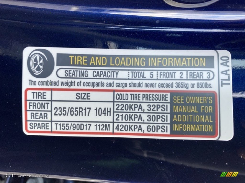 2020 CR-V LX AWD - Obsidian Blue Pearl / Gray photo #8