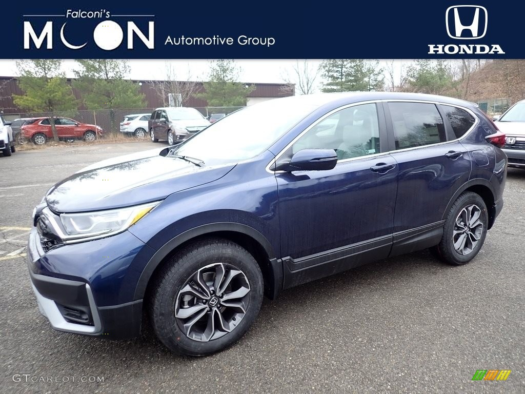 2020 CR-V EX-L AWD - Obsidian Blue Pearl / Gray photo #1
