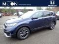 2020 Obsidian Blue Pearl Honda CR-V EX-L AWD  photo #1