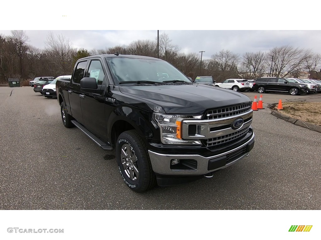 2020 F150 XLT SuperCrew 4x4 - Agate Black / Medium Earth Gray photo #1