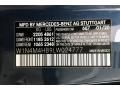 2020 GLB 250 4Matic Denim Blue Metallic Color Code 667