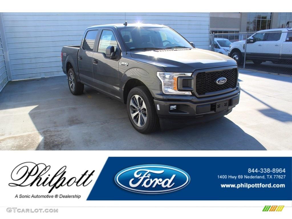 2020 F150 STX SuperCrew - Magnetic / Black photo #1
