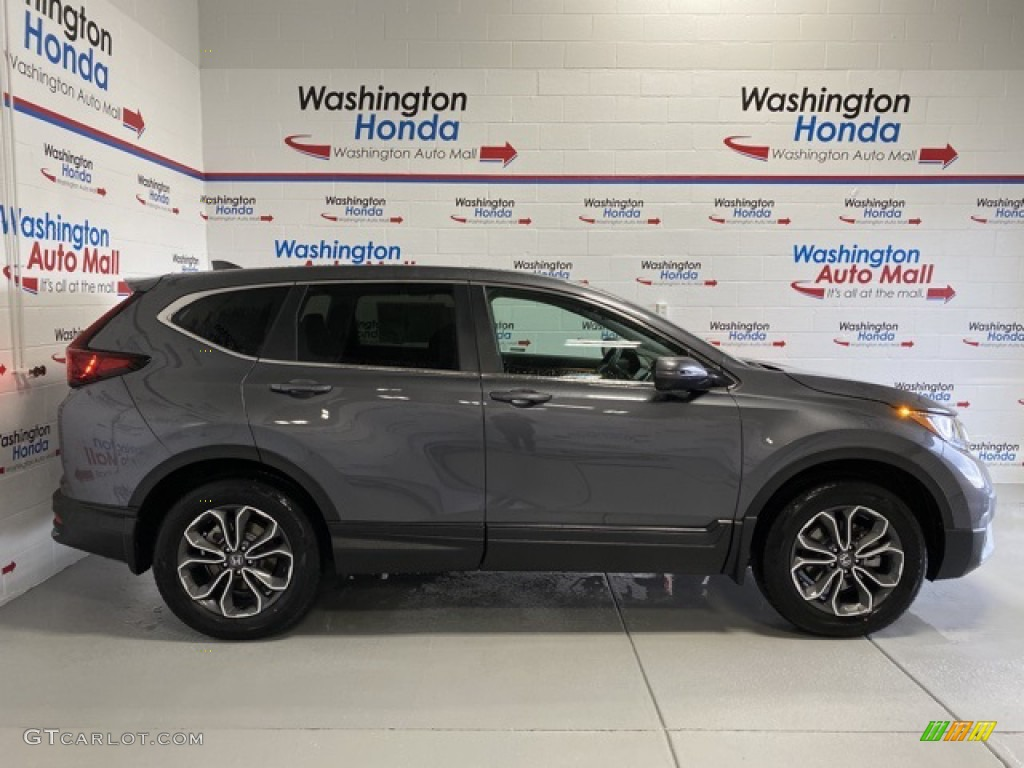 2020 CR-V EX AWD - Modern Steel Metallic / Black photo #1