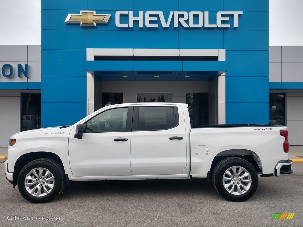 2020 Silverado 1500 Custom Crew Cab 4x4 - Summit White / Jet Black photo #1