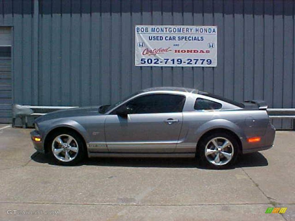 2007 Mustang GT Premium Coupe - Tungsten Grey Metallic / Black/Red photo #1