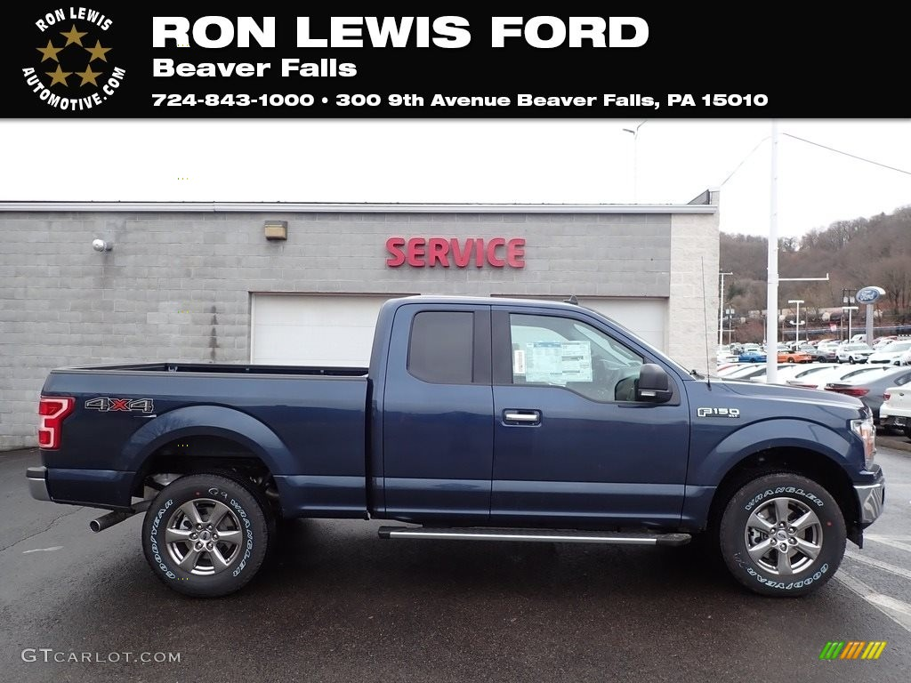 2020 F150 XLT SuperCab 4x4 - Blue Jeans / Medium Earth Gray photo #1