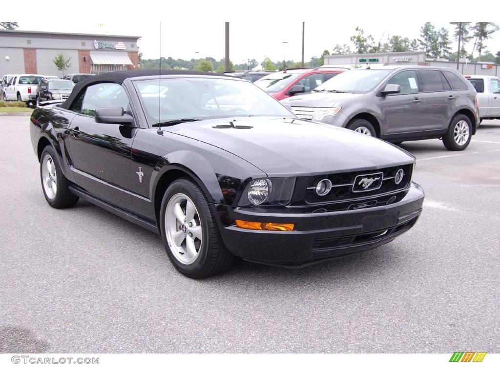 2008 black ford mustang v6 premium convertible 13752289. Black Bedroom Furniture Sets. Home Design Ideas
