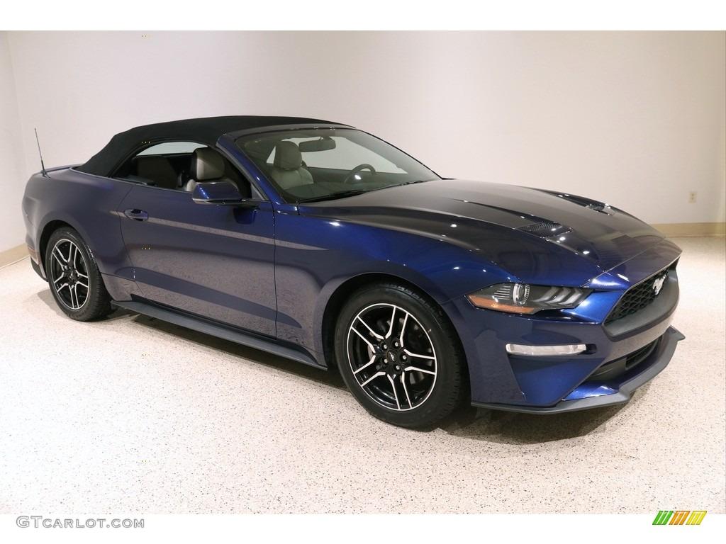 2019 Mustang EcoBoost Premium Convertible - Kona Blue / Ceramic photo #2