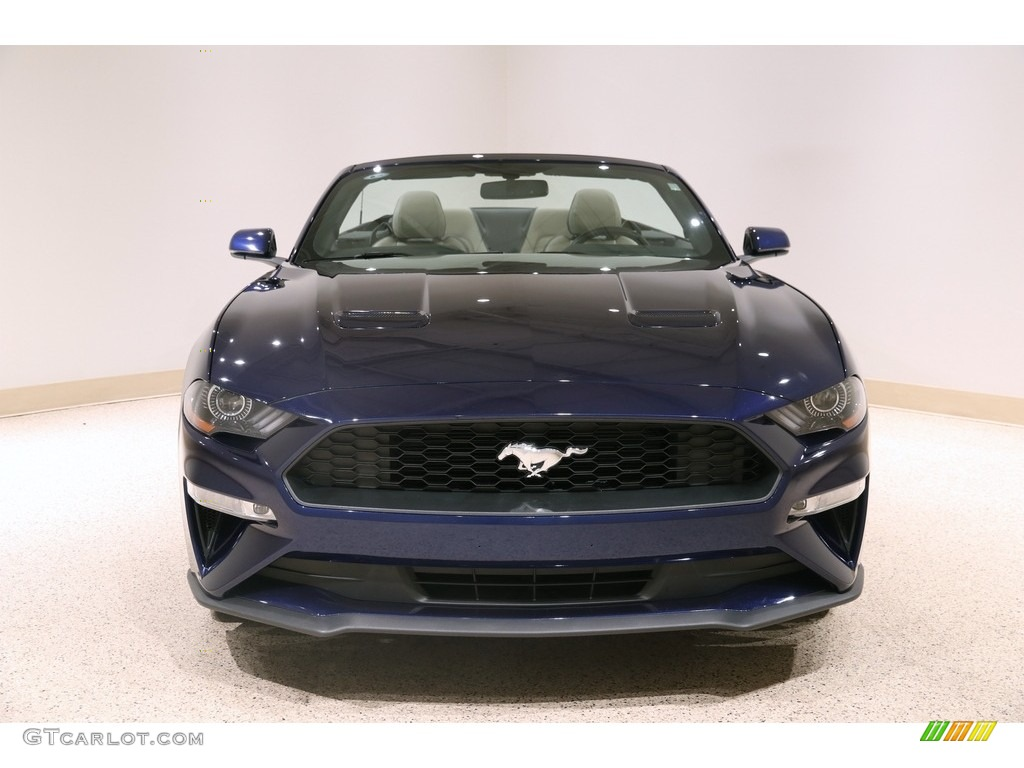 2019 Mustang EcoBoost Premium Convertible - Kona Blue / Ceramic photo #3