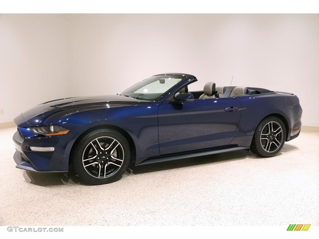 2019 Mustang EcoBoost Premium Convertible - Kona Blue / Ceramic photo #4
