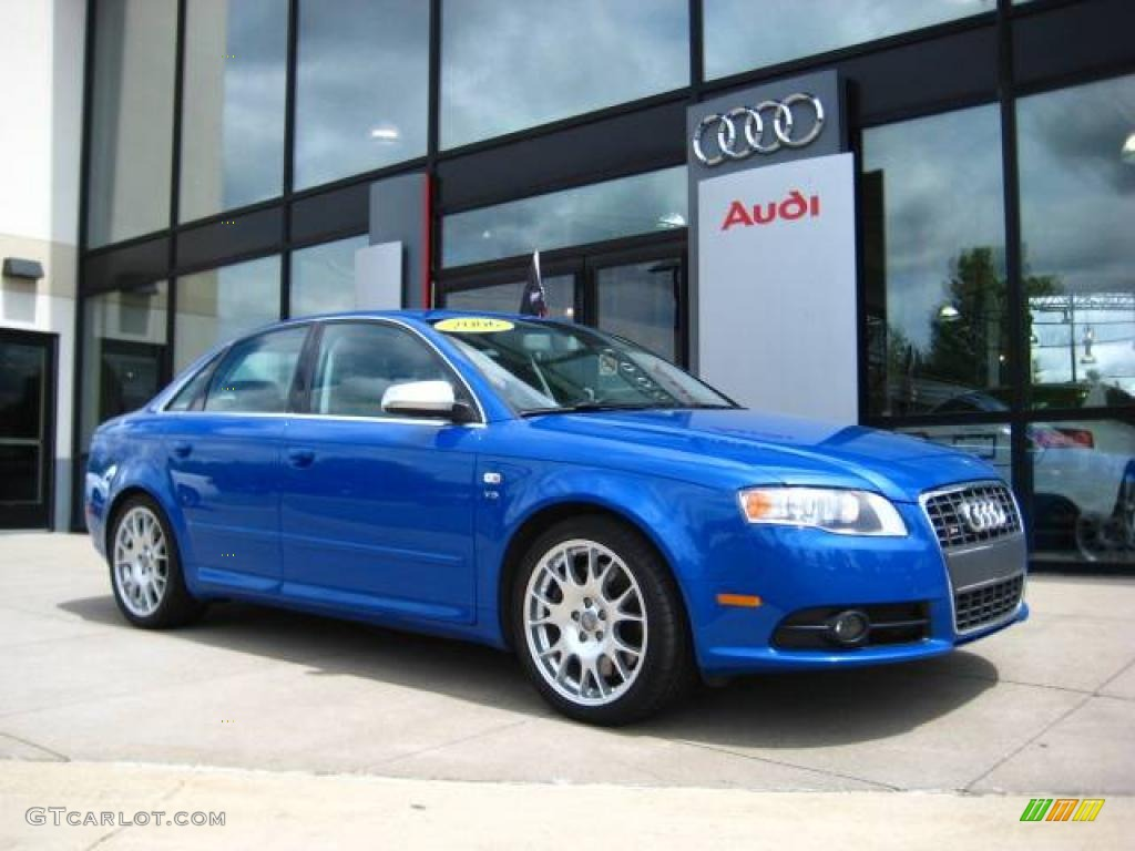 2006 sprint blue pearl effect audi s4 4 2 quattro sedan 13748564 gtcarlot com car color