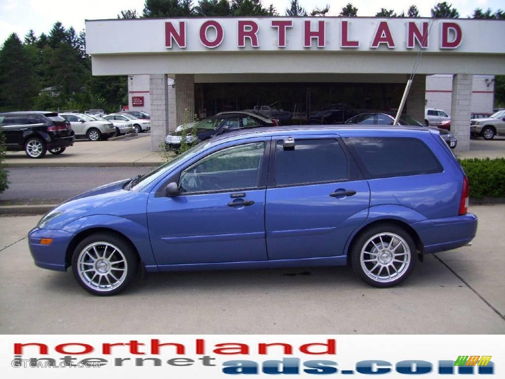 2004 french blue metallic ford focus ztw wagon 13747252. Black Bedroom Furniture Sets. Home Design Ideas