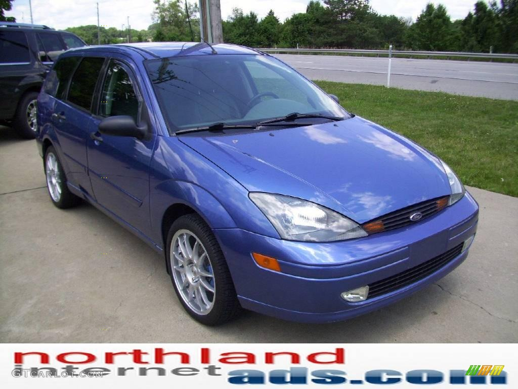 2004 Focus Ztw Wagon French Blue Metallic Medium Graphite Photo 5