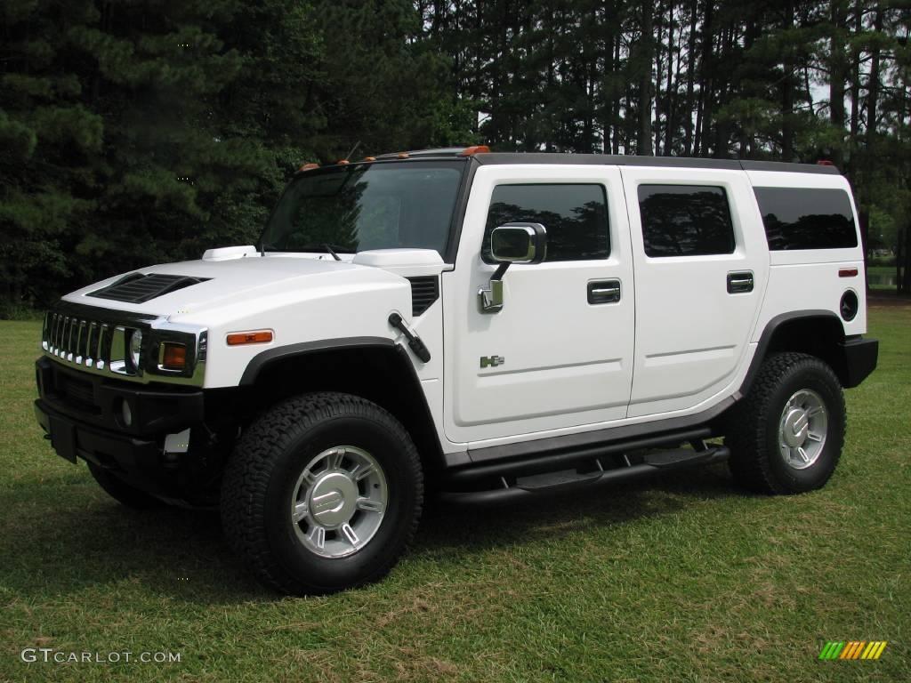 2003 H2 SUV - White / Wheat photo #1