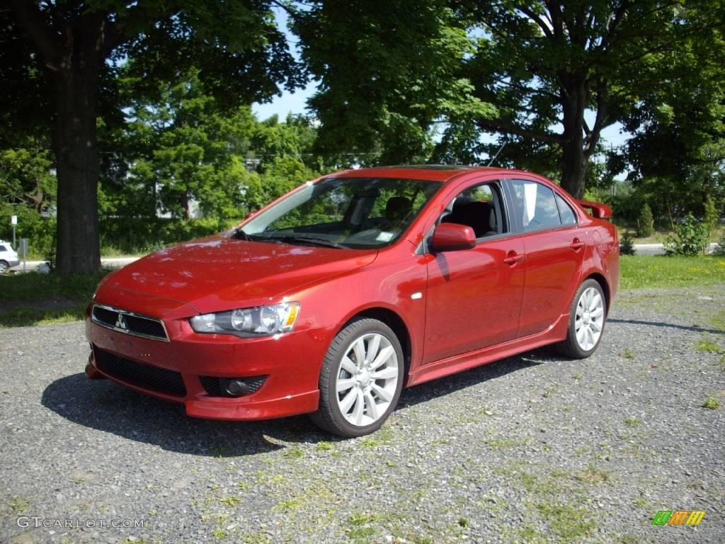 2009 rally red pearl mitsubishi lancer gts 13749520 car color galleries. Black Bedroom Furniture Sets. Home Design Ideas