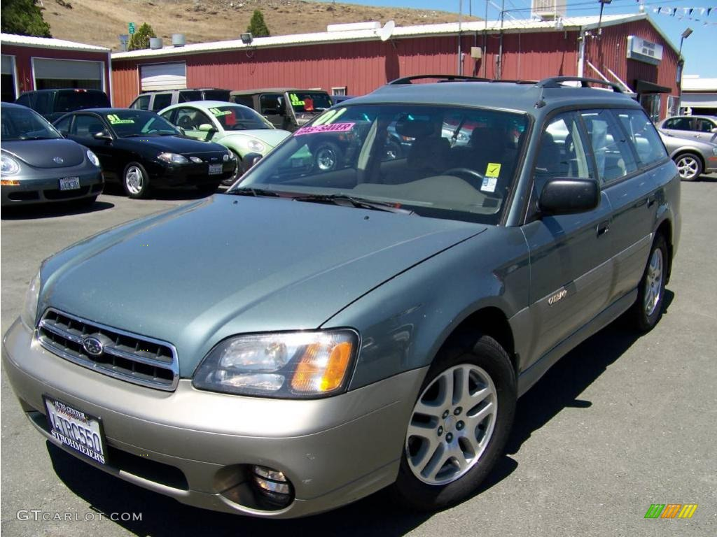 2001 Wintergreen Metallic Subaru Outback Wagon 13756012
