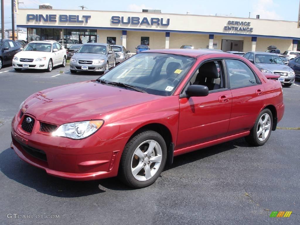 2007 Garnet Red Pearl Subaru Impreza 2 5i Sedan 13737347