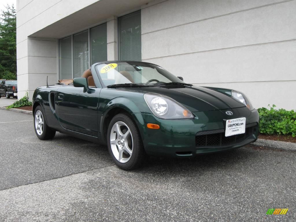 2001 Electric Green Metallic Toyota Mr2 Spyder Roadster