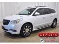 White Frost Tricoat 2017 Buick Enclave Premium