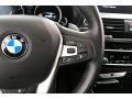 2018 BMW X3 Black Interior Steering Wheel Photo