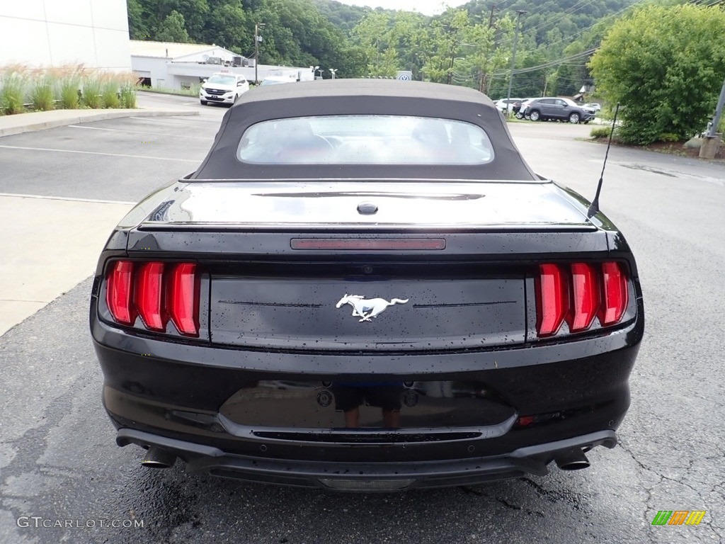 2019 Mustang EcoBoost Premium Convertible - Shadow Black / Showstopper Red photo #3