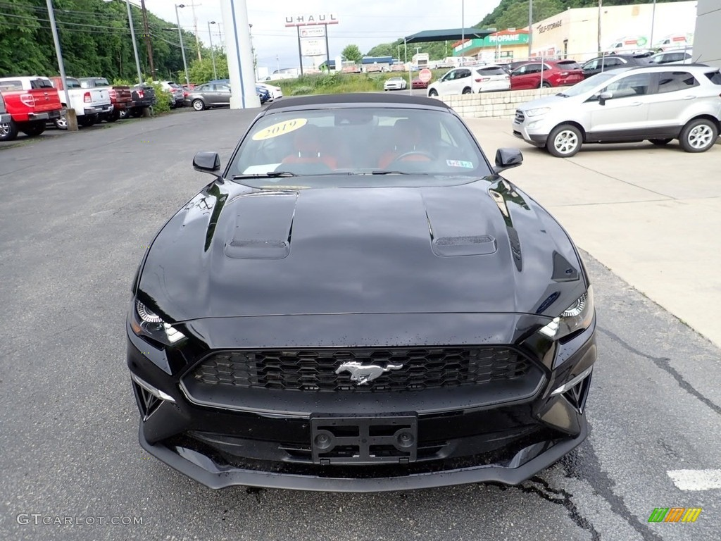 2019 Mustang EcoBoost Premium Convertible - Shadow Black / Showstopper Red photo #7